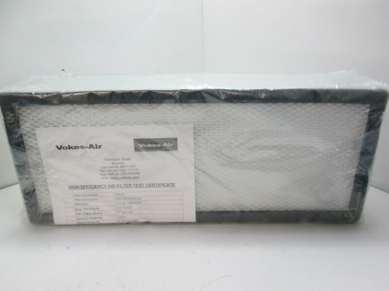 New Vokes-Air 706123 Clean Room Filter, 493 X 203 X 100mm, 99.9% Efficiency