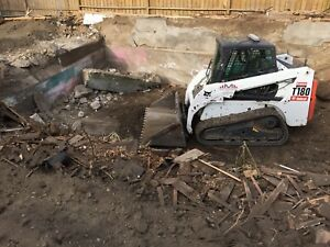 Professional skid steer (bobcat)services,Parking lot sweeping