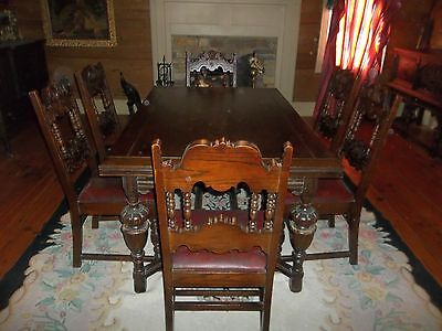 Free Shipping Elizabethian Dining Room Set Suite Suit Jacobean Color No Reserve for sale  Calhoun