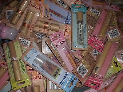 GeoGirl Makeup Cosmetics Mixed Lipgloss Shadow Powder Wholesale Resale 25 Lot