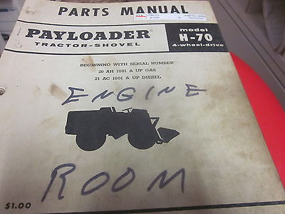 International Hough H-70 Pay Loader Parts Manual
