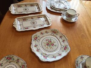 Royal Albert Petit Point Design China Dishes