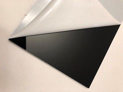 18 Black Acrylic Plexiglas Plastic Sheet 12 X 12 For Diy Craft...
