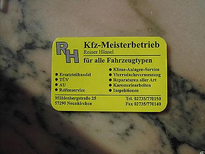 Taschenkalender R H Reiner Hänsel Kfz-Meisterbetrieb 57290 Neunkirchen 2016