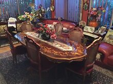 URGENT Italian style antique look dining table 7 piece set Beechboro Swan Area Preview