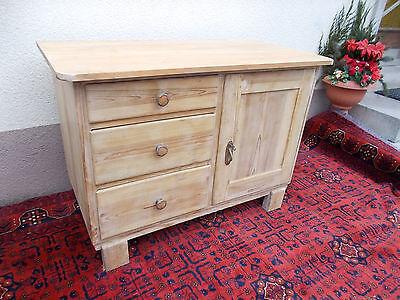 Bauernkommode Holz Art deco Wäsche Schrank um 1930 Fichte Kommode Schubladen ~