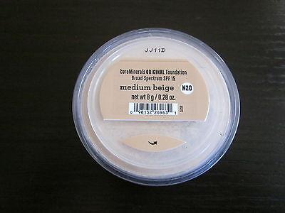 bare Minerals Original Foundation MEDIUM BEIGE N20 * 8g Click Lock ~ Best Seller