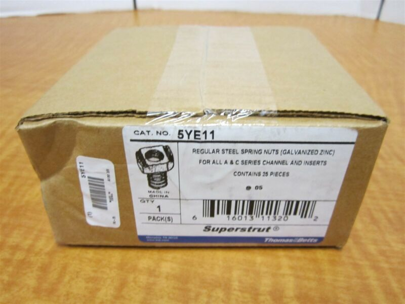 """Lot of 25 SUPER-STRUT 3/8""""-16 Channel Spring Nuts NEW"""