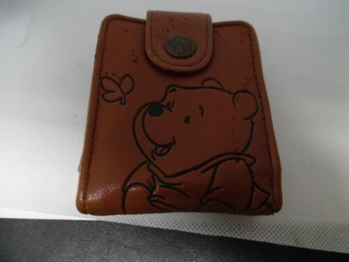 Disney Vintage brown leather Winnie the Pooh Wallet with pooh shaped mirror