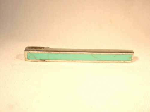 """Sterling Silver Pendant with inlay Turquoise 2"""" in length"""