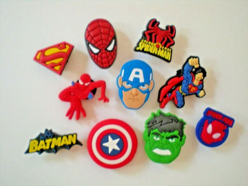 Shoe Charm Plug Button For Bracelet For Accessories 10 Super Hero s