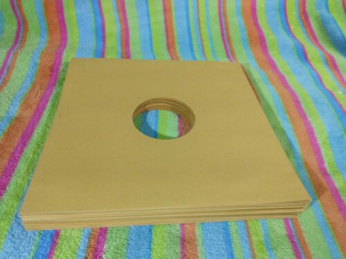 50-pack Record Sleeves 78rpm 10-inch Victrola Golden Brown Tan Paper Shellac