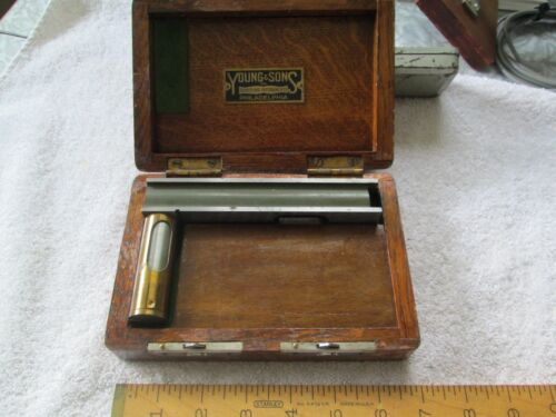 1918 Young & Sons, Phila. Surveying - Related Instrument (Square ?) - Oak Box