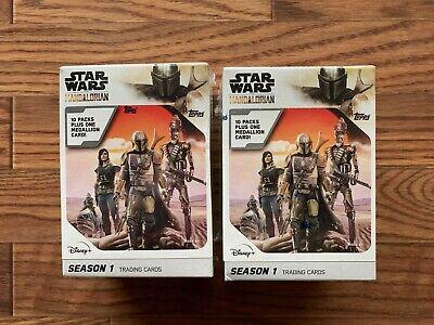 2020 Topps Star Wars The Mandalorian Season 1 Sealed Blaster Box (2) Super Rare!