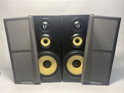 Pair of Sony SS-MB350H 3-Way Bookshelf Speakers w/ Grilles 8ohms 120W Max TESTED