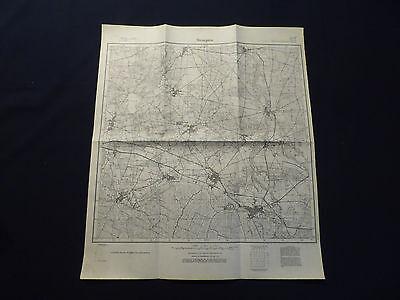 Landkarte Meßtischblatt 4050 Straupitz, Neu Zauche, Waldow, Kaminchen, von 1945