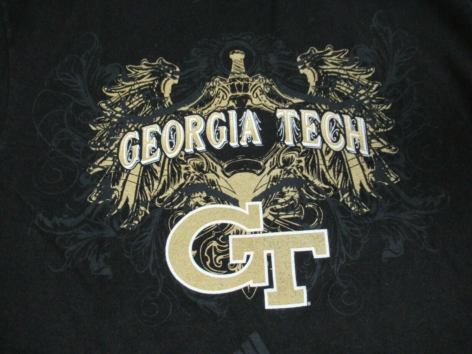 Adidas georgia tech ailes or accents ailes letters-black m t-shirt -a1347