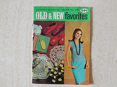 Coats & Clarks Old & New Favorites  Book 176 Clothing Home Decor Vintage 1967