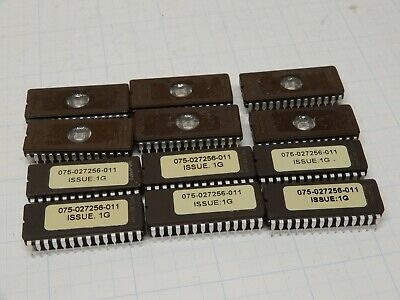 Lot Of Twelve Am27c256-120dc Eprom Chips Used With Stickers Amd And Others