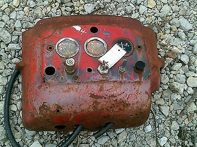 Massey Harris 44 Tractor Original Mh Dash With Key Switch Gauges