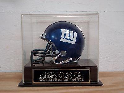 Football Mini Helmet Display Case With A Matt Ryan Atlanta Falcons (Atlanta Falcons Helmet Display Case)