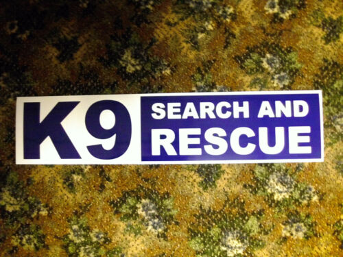Magnetic K9 Search and Rescue Unit Sign Large 21 x 5 Fireman Medic Police Dog 40