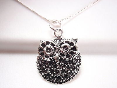 Eyed Owl Pendant - Big Eyed Owl Pendant 925 Sterling Silver Corona Sun Jewelry Nightlife
