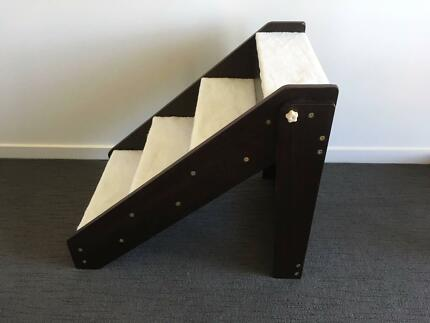 Wooden Portable Dog Stairs Foldable