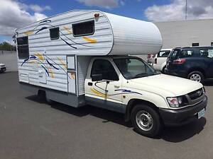 2002 Toyota Hilux Campervan, Automatic, 4 Berth, Fridge, Stove. Invermay Launceston Area Preview