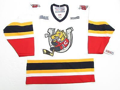 93b0bdc91 BARRIE COLTS OHL WHITE VINTAGE CCM HOCKEY JERSEY SIZE MEDIUM