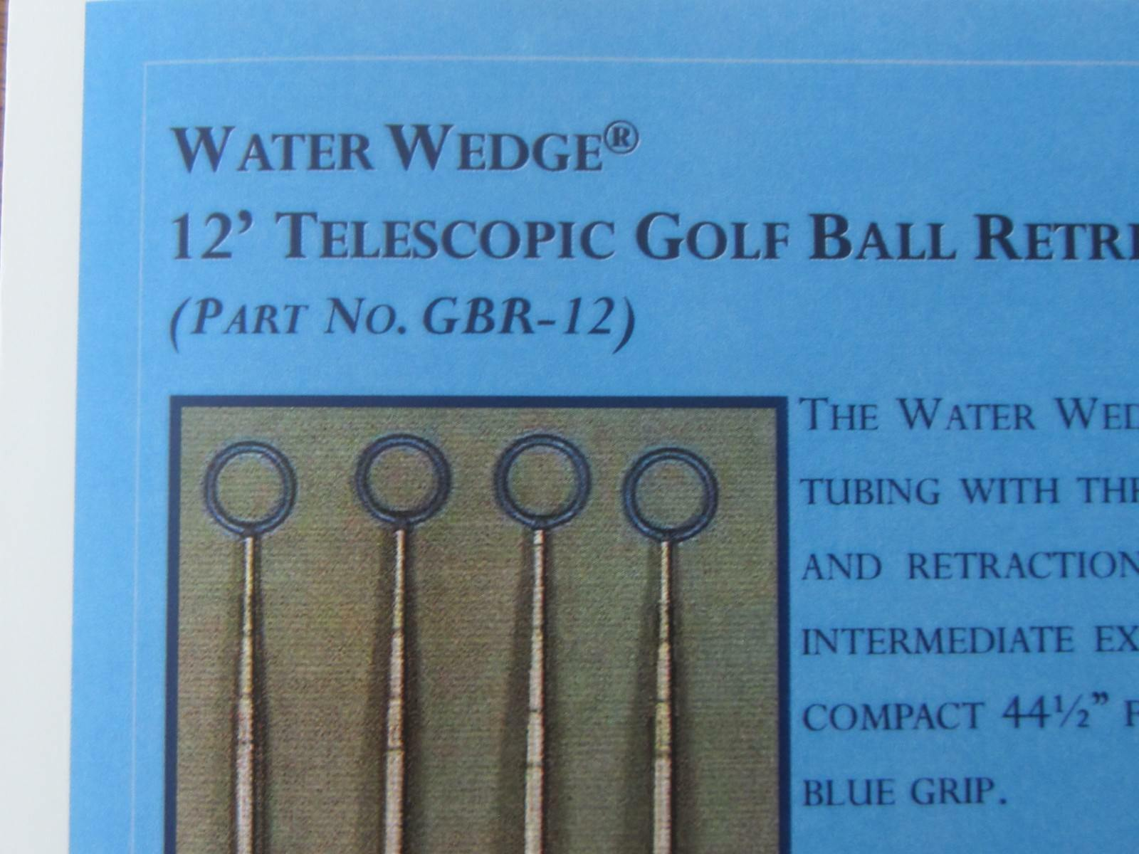 "Ezy-Glide Water Wedge 12"" Telescopic  Golf Ball Retriever P#"
