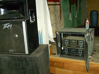 2 Vintage Peavey PA amps in cabinet. pick up Clarksville, AR,