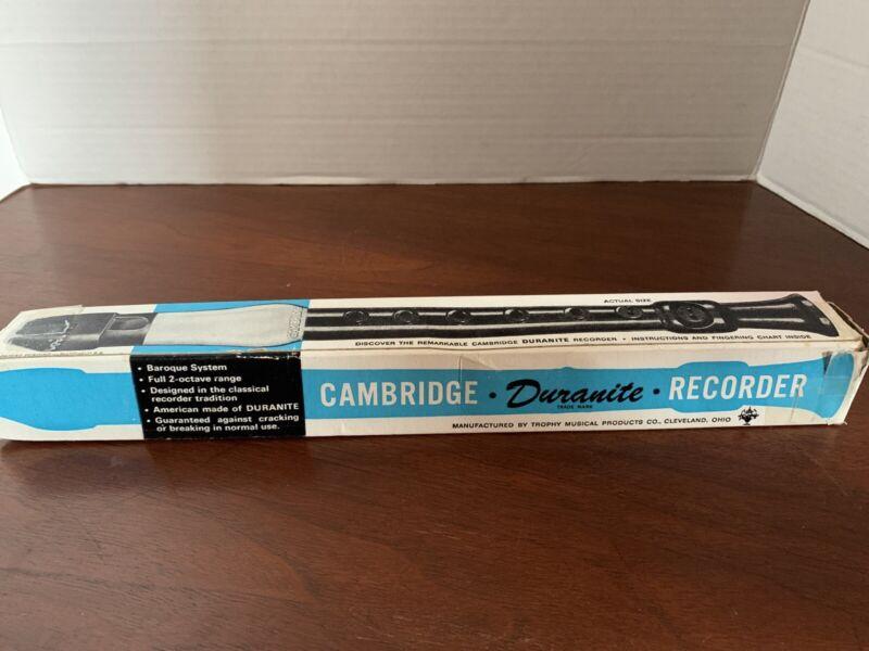 "Vintage Cambridge ""Duranite"" Recorder with Box 1967"