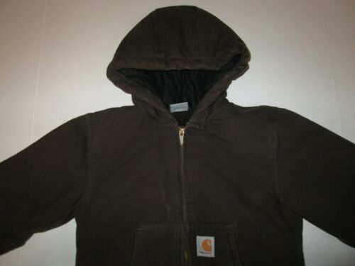 Carhartt Hooded Active Canvas Quilted Work Jacket Boy