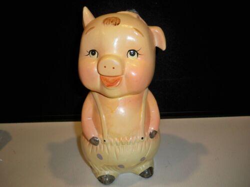 VINTAGE CHALKWARE PLASTER  PIG PIGGY BANK 10