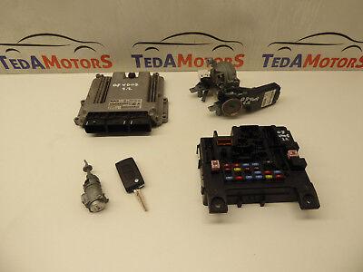 PEUGEOT 4007 2.2 DIESEL ENGINE ECU IGNITION BARREL KEY LOCK SET 9665465280