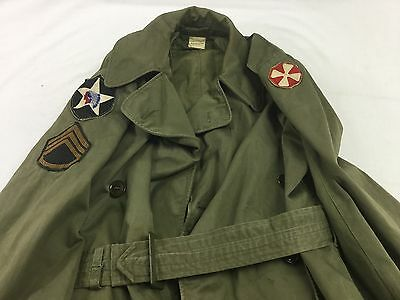 WWII WW2 2nd Infantry Field Jacket With Patches US Military Vintage
