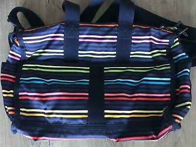 Pre Owned Baby Tote LeSportsac Weekender Carry On Bag -  Baby Lestripe