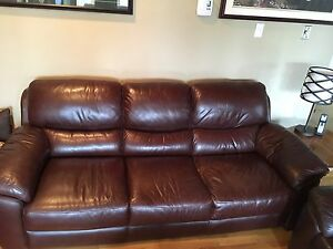 Leather LAZYBOY sofa and love seat