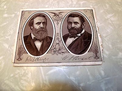 United States Presidents Trade Card R.B. Hayes & U.S. Grant Liberty Patriotic
