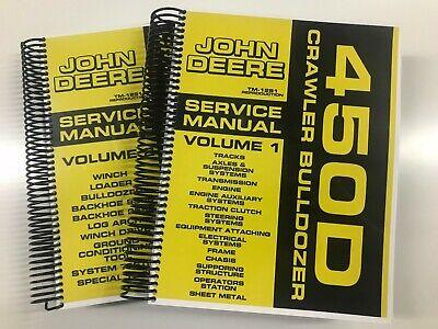 Service Manual For John Deere 450d Crawler Bulldozer Tm-1291 908 Pages