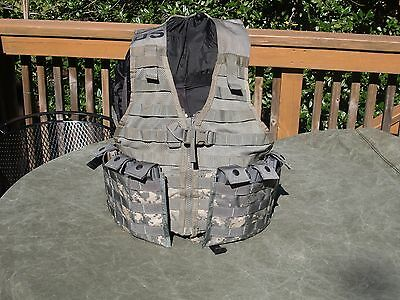 MOLLE II Fighting Load Carrier VEST w/ 2 Triple Mag Pouches FLC US Army ACU