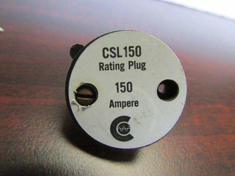 Challenger Westinghouse Cutler Hammer Rating Plug CSL150 1240C92G05