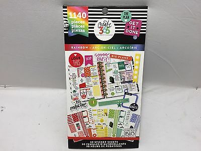 New Mambi Create 365 The Mini Happy Planner Rainbow Value Sticker Book  1140Pc