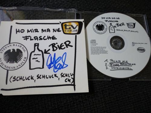 """STEFAN RAAB signed signiert Autogramm """"HO MIR MA NE FLASCHE BIER"""" CD InPerson"""