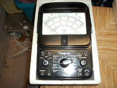 Vintage Simpson 260 Series 6 Analog Volt-ohm Meter Usa