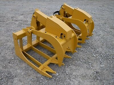 Cat Skid Steer Attachment - 72 Severe Duty Root Grapple Bucket - Ship 199