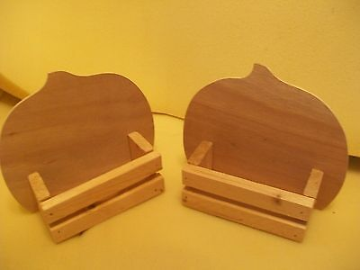 2 Pumpkin Box Wood Cut Outs;Seasonal Fall Craft Activity;Halloween,Thanksgiving - Autumn Halloween Activities