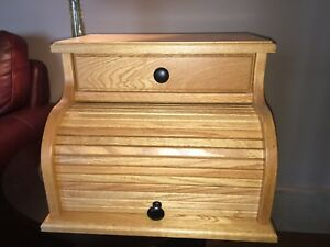 Solid Oak Bread Box