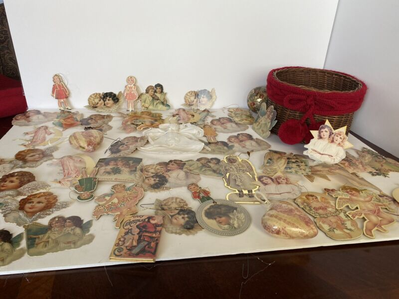 Lot Of Vintage Paper Ornaments /tags